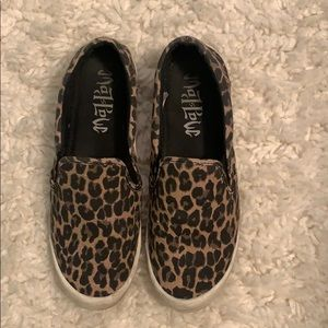 Mad Love Leopard Print Sneakers